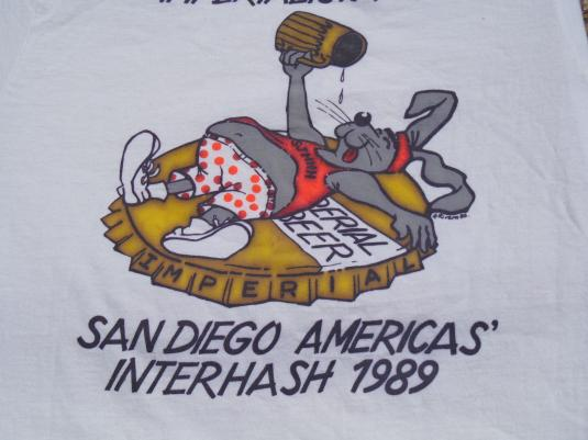 Vintage 1989 Americas' Interhash T-Shirt M