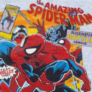Vintage 1990s Amazing Spiderman Heather Gray Cotton T-Shirt
