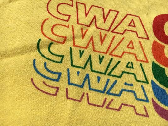 Vintage 1980s CWA Organize Union Yellow T-Shirt M/XL
