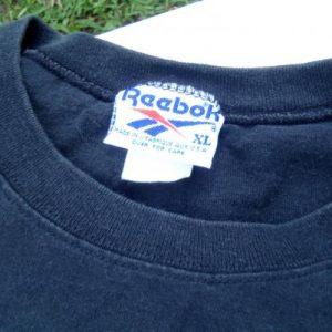 Vintage 1990s Reebok Black Cotton T-Shirt XL