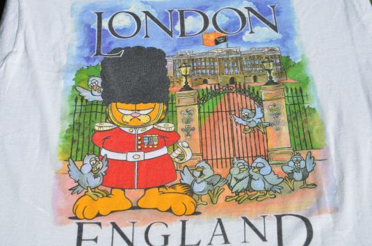 Vintage 1980s Garfield in London T-Shirt L/XL
