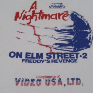 Vintage 1986 Nightmare on Elm Street 2 Promo T-Shirt L