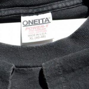 Vintage 1989 Four Cats Barcelona Spain Black T Shirt XL