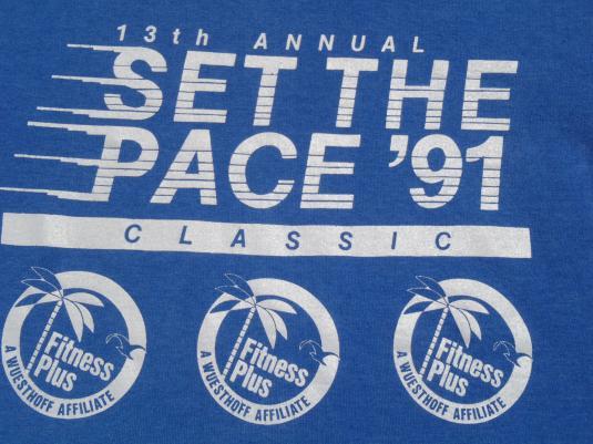 """Vintage 1991 """"Set the Pace"""" Run T Shirt M"""
