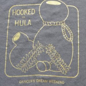 Vintage 1990s Hooked on Hula Black T-Shirt L