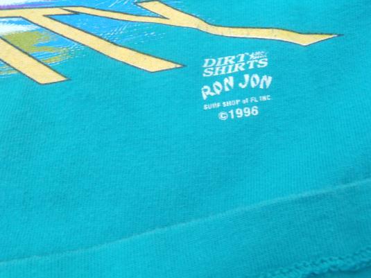 Vintage 1996 RonJon Surf Shop Eternity Aqua Cotton T-Shirt M