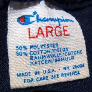 Vintage 1980s Navy Blue Notre Dame Fighting Irish T Shirt M/L
