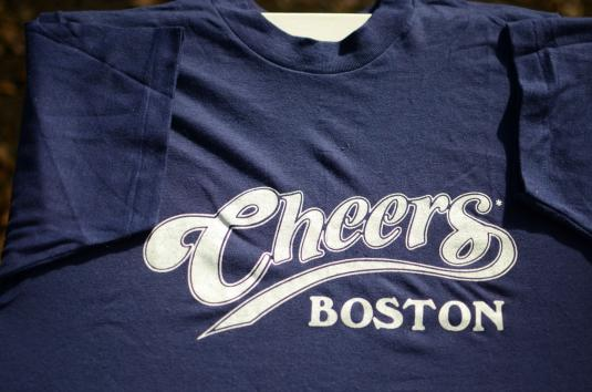 Vintage 1980s Cheers of Boston Navy T-Shirt S/M