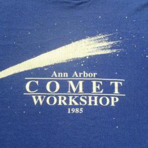 Vintage 1985 Ann Arbor Comet Workshop Navy Blue T-Shirt S/M