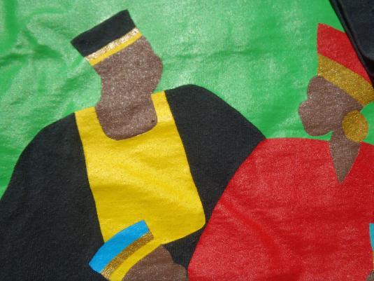 Vintage 1990s Kwanzaa Black Cotton T-Shirt XL