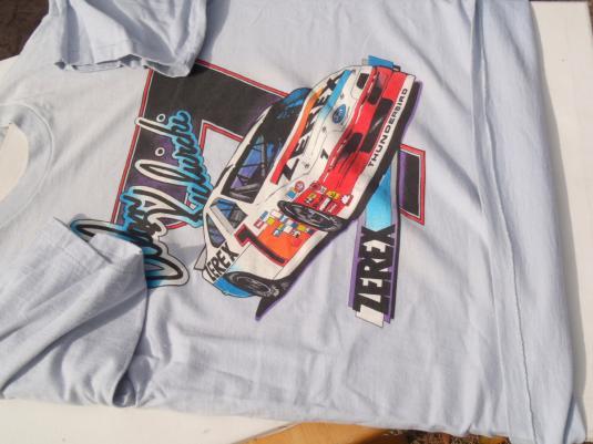 Vintage 1990s Al Kulwicki Zerex NASCAR Racing Gray T-Shirt M