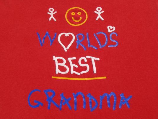 Vintage 1990s Worlds Best Grandma T-Shirt M