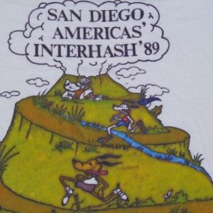 Vintage 1989 Americas' Interhash T-Shirt M