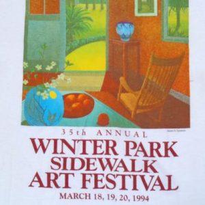 Vintage 1994 Winter Park Florida Art Festival White T-Shirt