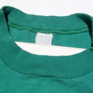Vintage 1980s Green Flock Letter Biology Is the Life T-Shirt