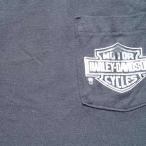 Vintage 1980s Black Harley Davison Ft Smith Arkansas Pocket