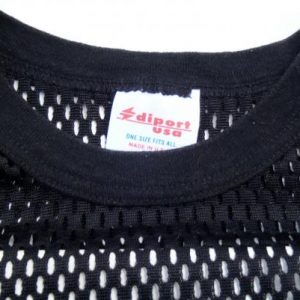Vintage 1980s Black New Orleans Nylon Mesh Jersey T Shirt XL