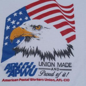 Vintage 1980s American Postal Workers Union T-Shirt L