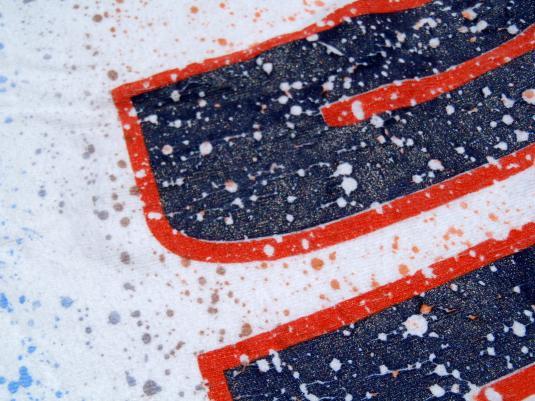 Vintage 1990s Chicago Bears NFL Paint Splatter Cotton T-Shirt