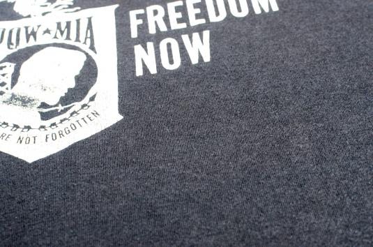 Vintage 1980s POW MIA Black T-Shirt L/XL