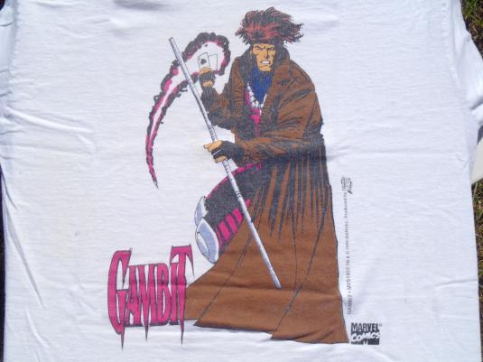 Vintage 1990s Gambit X-Men Marvel Comic Book T-Shirt L