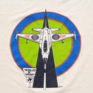 Vintage 1990s Florida Highway Patrol Airplane T-Shirt XL