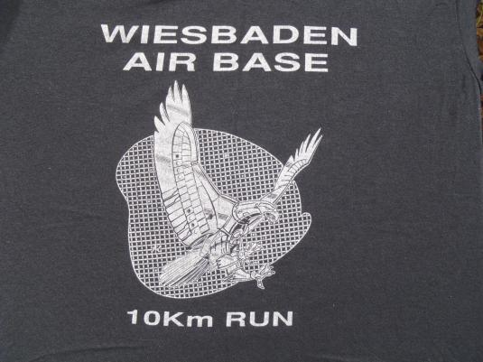 Vintage 1980s Wiesbaden Air Base 5K Run T-Shirt M