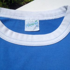 "Vintage 1980s Blue ""My Bowling Stinks"" Skunk Jersey T Shirt L"