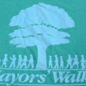 Vintage 1980s Mayors Walk Aqua T-Shirt XL