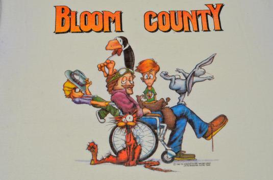 Vintage 1986 Bloom County Comic Strip Beige T-Shirt M