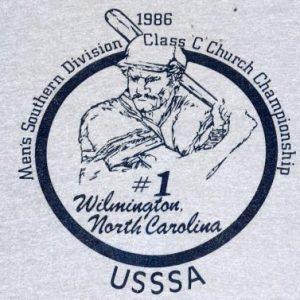 Vintage 1986 Softball USSSA Heather Gray Sports T-Shirt XL