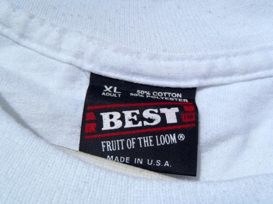 Vintage 1990s Santa Claus Christmas White T Shirt XL