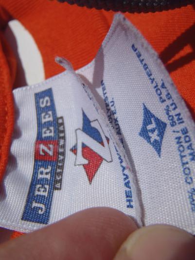 Vintage 1990s Orange Soccer T Shirt L/XL