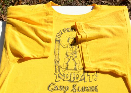 Vintage 1987 YMCA Ropes Course Yellow T-Shirt XXL