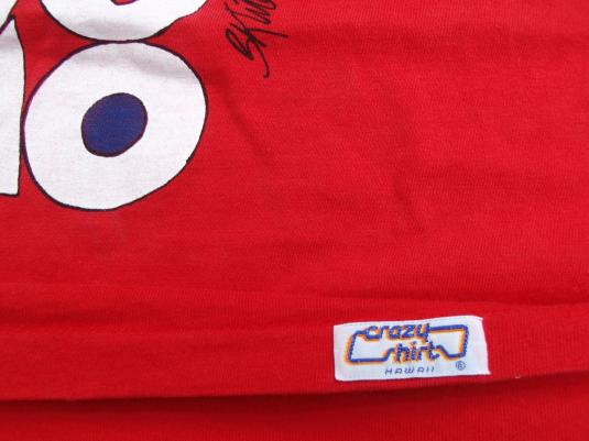 Vintage 1990s Sumo Kliban Cat Red T Shirt M from Crazy Shirt