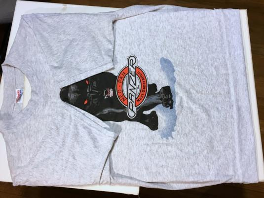 Vintage 1990s Panzer Neo-Pan Motorcycle Heather Gray T-Shirt