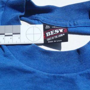 Vintage 1980s Blue Edison Soccer T Shirt XL