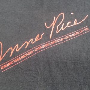 Vintage 1996 Anne Rice Romantic Booklovers T Shirt L