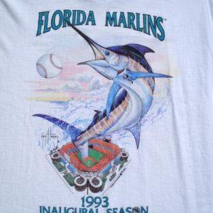 Vintage 1992 Florida Marlins Inaugural Season White T Shirt