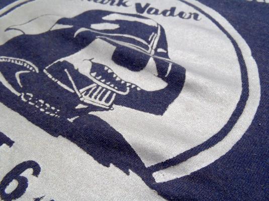 Vintage 1981 Navy Blue Shark Vader Star Wars Promo T Shirt S