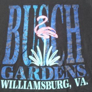 Vintage 1980s/90s Busch Gardens Black Tourist T Shirt L