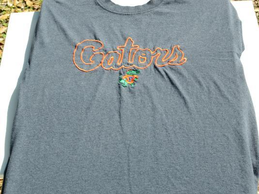 Vintage 1980s Florida Gators Blue Striped T-Shirt L