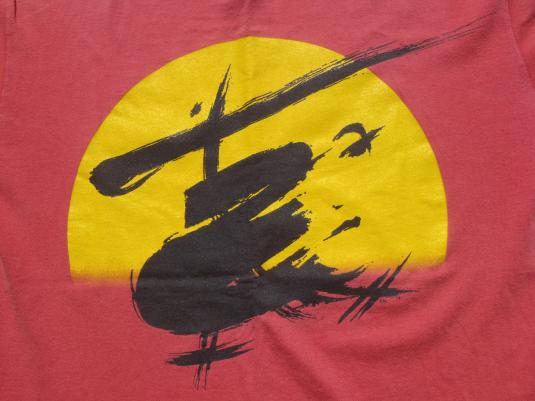 Vintage 1980s Miss Saigon Broadway Red Cotton T-Shirt XL