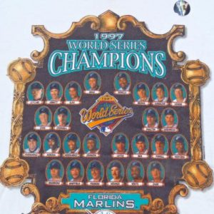 Vintage 1990s Florida Marlins World Series Champs T-Shirt XL