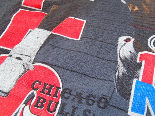Vintage 1991 Black NBA Finals Bulls Lakers Cotton T-Shirt L