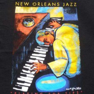 Vintage 1994 New Orleans Jazz Festival Black T-Shirt L