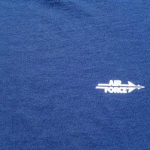 Vintage 1980s Air Force Aim High Navy Blue T Shirt XL