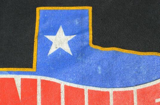 Vintage 1984 Willie Nelson Black Concert Tour T-Shirt M