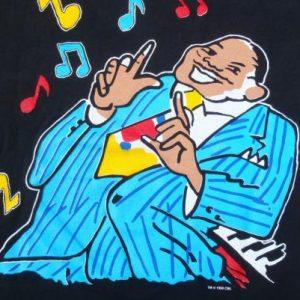 Vintage 1990 Black Five Guys Named Moe Musical Cotton T-Shirt L