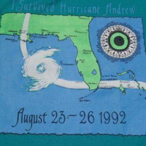 Vintage 1992 Hurricane Andrew T-Shirt M